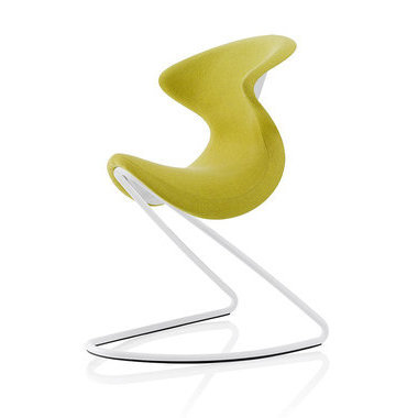 Chaise design OYO LIVING Curry, base blanche
