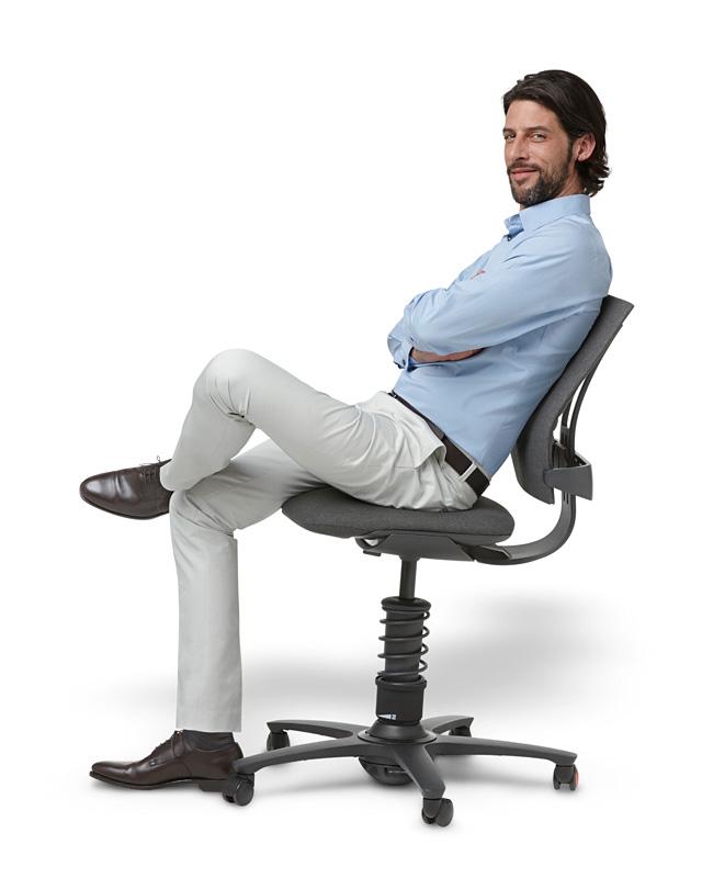chaise de bureau ergonomique 3 dee corail base chrom e. Black Bedroom Furniture Sets. Home Design Ideas